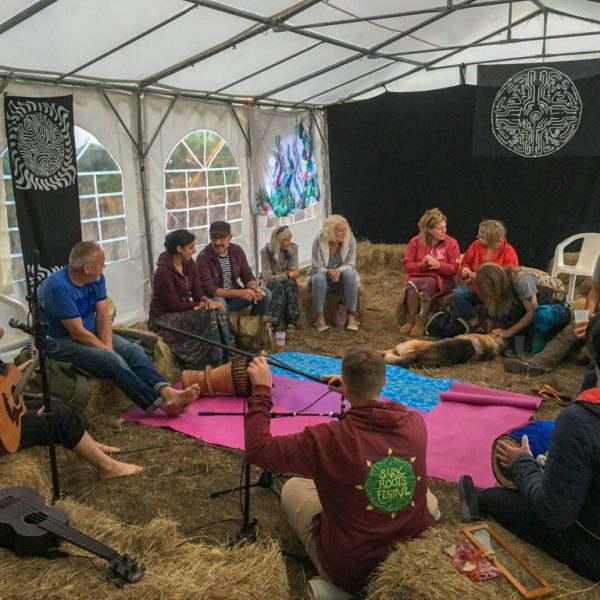 An earthy setting for our kirtan!